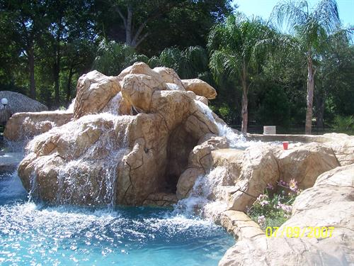 Multi-tier Custom Rock Water Feature - (6) Waterfalls