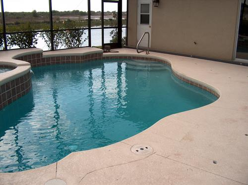 (BEFORE)....Pool Renovation - Deck re-work and new Channel Drain installation