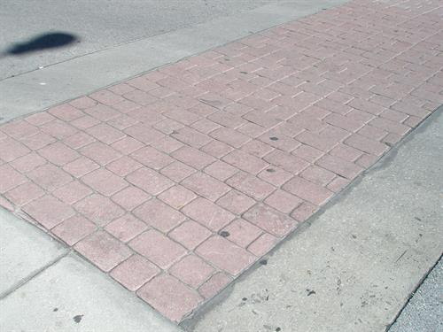 """(BEFORE)....Replacement of """"Old Paver"""" Municipal city walk-way"""