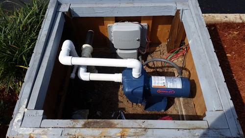 Irrigation pump installation