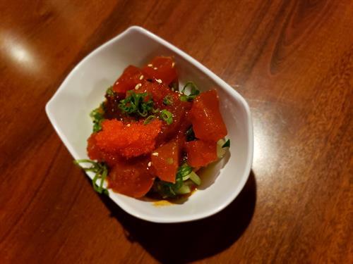 Village Food Tour Spicy Tuna Salad Sample