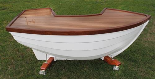"Weinreich Boat Bar *Total bar length 8'10"" and has 16' of serving area not counting the bartender's space."