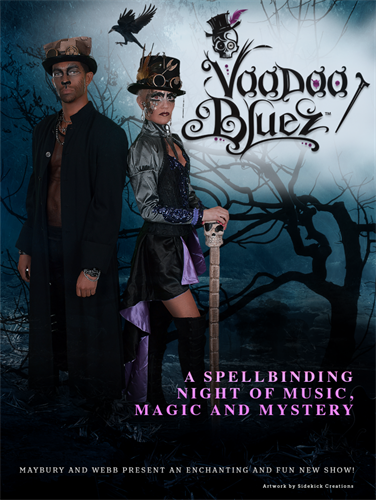 Voodoo Bluez is an immersive 90 minute theater show with great songs, amazing choreography and haunting magic.