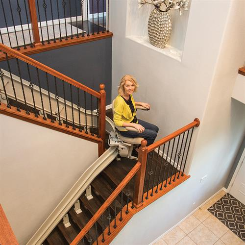 Custom Curved stairlifts.