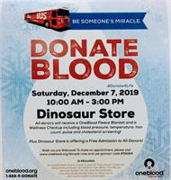 Blood Drive hosted by the Museum of Dinosaurs and Ancient Cultures