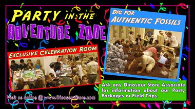 Reserve the excavation site for a birthday party or family reunion