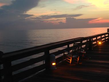 The beginning of a new day at the Westgate Cocoa Beach Pier