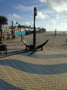 200 Year old anchor displayed next to Sea Dogs at the Westgate Cocoa Beach Pier