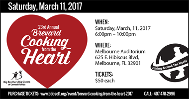 Brevard Cooking From the Heart, March 11, 2017, 6-10pm