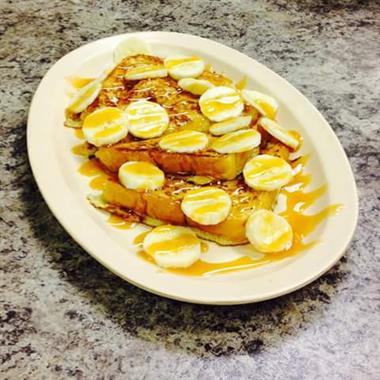 Banana Foster French Toast special