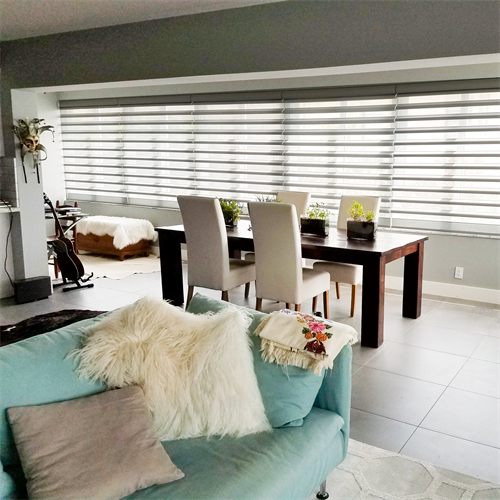 Motorized Pirouette Shades we installed in Tequesta, FL