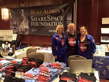 Volunteering with Buzz Aldrin's Shared Space Foundation.