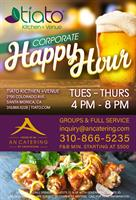 TUES - THURS | TIATO Corporate/ Group Summer Happy Hour | 4pm - 8pm | An Catering by Crustacean