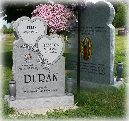 Duran Monument at Mountain View Cemetery