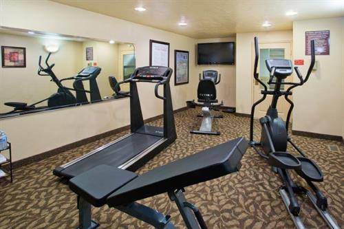 Get a work out in our 24-hour fitness center!