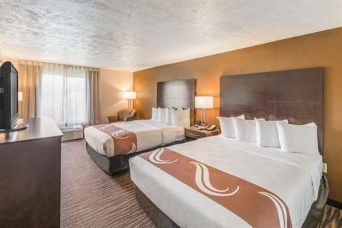 Our comfortable double Queen rooms are popular among families, teams and friends!