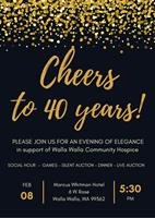 ?HOSPICE CELEBRATES 40 YEARS AT THEIR ANNUAL WINE DINNER & AUCTION