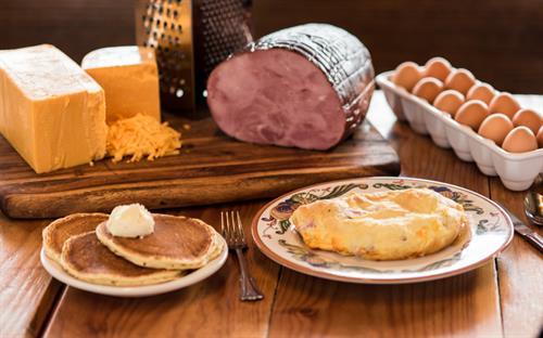 Ham Cheddar Omelette