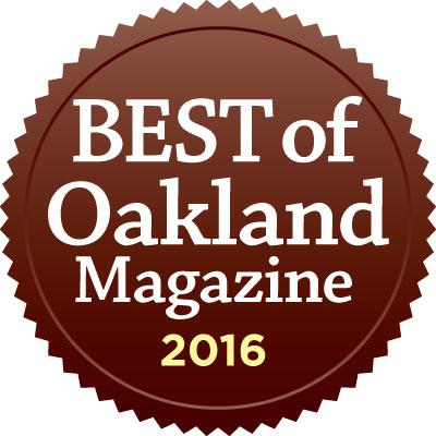 Winner - Best Insurance Agent in Oakland, 2016 by Oakland Magazine