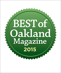 Winner - Best Insurance Agent in Oakland, 2015 by Oakland Magazine