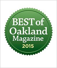 Winner - Best Insurance Agent in Oakland, 2015 by Oakland Magazine
