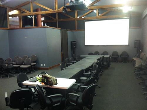 Our meeting space is newly renovated, seats about 70 and has great AV gear.