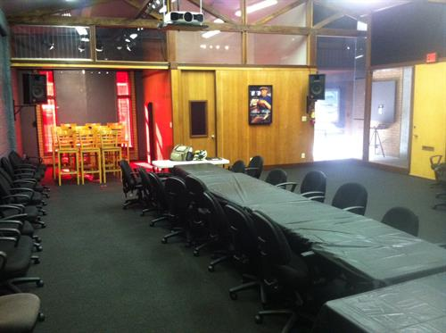 The venue can be configured for meetings, services, or anything else.