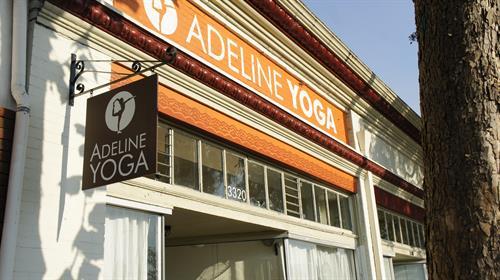 Adeline Yoga storefront on Adeline/Alcatraz