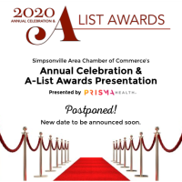 POSTPONED! 2020 Annual Celebration featuring Simpsonville's A-List Awards