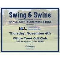 Swing & Swine Golf Tournament & BBQ Presented by Laurens Electric Cooperative, Inc.