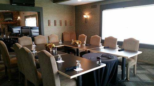 Our Board seats up to 20 people for meetings for small gatherings! No charge for the use of this space if food and beverage is ordered during your event.
