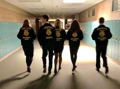 FFA Senior Officers' last walk down the HS hallway.