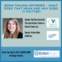 May 13, 2021 - Being Trauma Informed - What Does that Mean and Why Does it Matter?