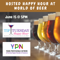 June 15, 2021: YPN Tip Tuesday Hosted Happy Hour at World of Beer
