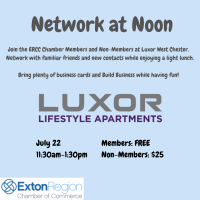July 22, 2021: Network At Noon - Luxor West Chester