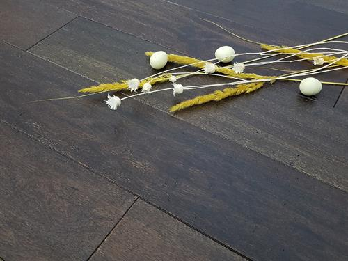 Brazilian Teak - Wirebrushed Coffee - Exotic Hardwood Flooring