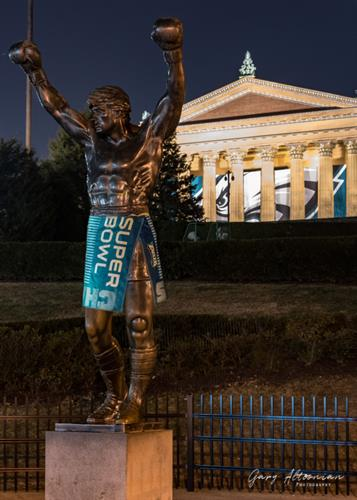 """Underrated Underdogs"" - Rocky and the Philadelphia Art Museum helping to celebrate the Philadelphia Eagles Superbowl LII victory."