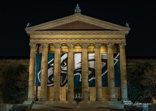 """Winning is an Art Form"" - The Philadelphia Art Museum helping to celebrate the Philadelphia Eagles Superbowl LII victory."