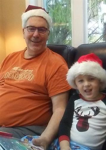 Singing with my grandson, Owen.