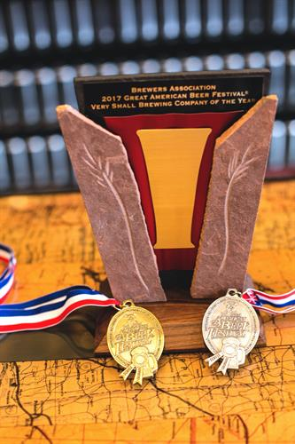 Great American Beer Festival 2017 Very Small Brewery & Brewmaster of the Year.