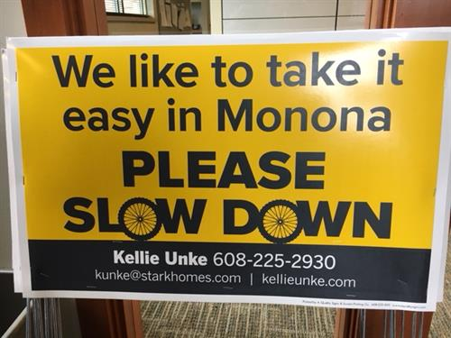 Signs placed throughout Monona
