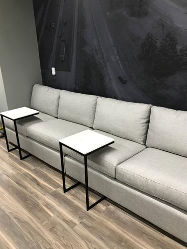 Comfy Couches across from our Coffee Bar (included in all memberships)