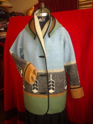 Custom Wisdom blanket coat