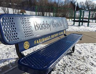 The Faribault Rotary purchased these 8 Buddy Benches for the area school grounds. The Faribault Foundation was happy to suppor the project with a Community Pride Grant.
