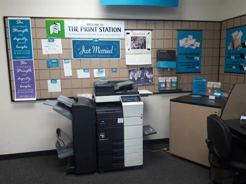 This is our color copier and some of the examples of printing we can do for you!