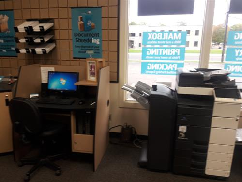 We also have a computer station people can use and another printer!