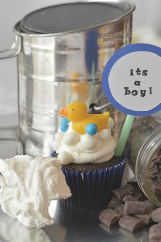 It's a boy themed cupcake