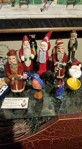 Hand carved wood figures by Gery Berg. All items by this artist are for sale.