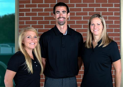 Back In Action Therapist Marissa Amacher, Nate Moldestad, Kristen Cook