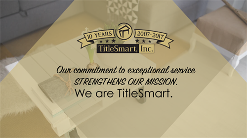 We are TitleSmart!